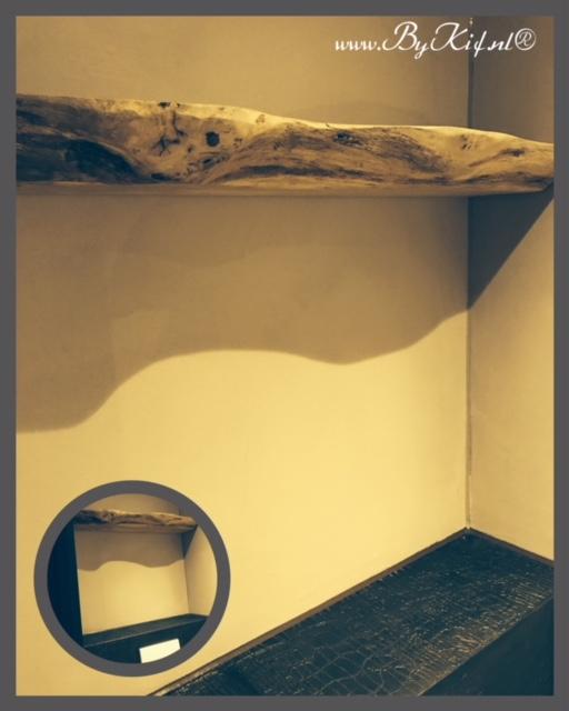 boomstamblad als plank