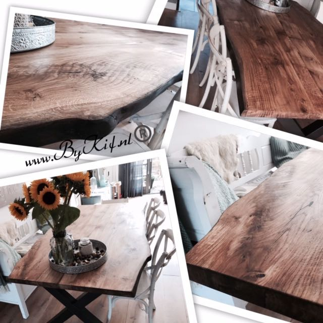 industiele tafel met blad